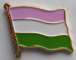 Genderqueer Pride Flag Enamel Pin Badge